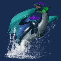 Water Dragon (Image Only) by Kaito-Haruka