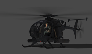 100% pose-able AH-6 Little Bird by bstylez