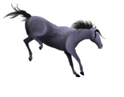 Blue Roan Airbrushing by hestur