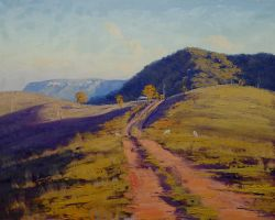 Track over the Megalong Valley by artsaus