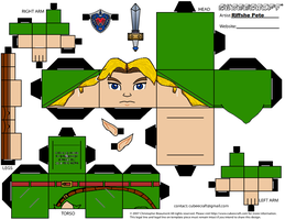 Young Link Majora's Mask Cubeecraft by RiffshePete