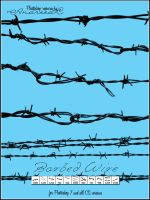UNRESTRICTED - Barbed Wire Brushes by frozenstocks