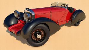 1930 Mercedes Benz 710 SSK Trossi Roadster by SamCurry