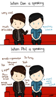 Dan and Phil during Interviews by espadaroja