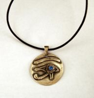 Eye of Horus Pendant by SLiCkDesigns