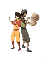Jinora and Skoochy by BlueDecember89