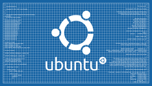 Ubuntu Blueprint Wallpaper by poulsen93