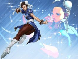 Chun-Li Wallpaper by Shadowcatgirl09