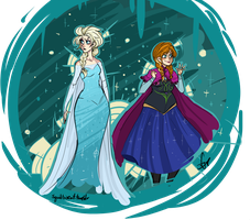 Snow Sisters by Squidbiscuit