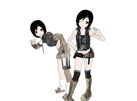 MMD Yuffie WIP 2 by Pucaroo16