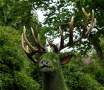 green deer by awjay