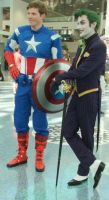 Captain America and Joker at Comikaze Expo 2012 by trivto