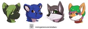 Patreon Headshots by Zeta-Haru