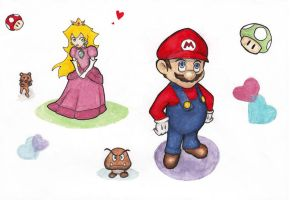 Mario and c:o - for Chiisai-Ma by PrincessViKi
