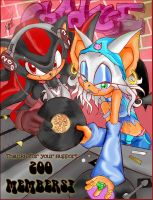 Shadow x Rouge - Sweet 200 by kazooie64