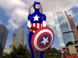 So I'm a female Capt America by ProphetX