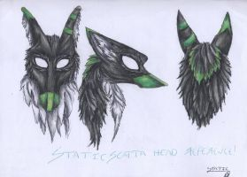 StaticScatta Head Reference Sheet by LittleSkrillexKid