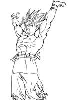 Goku UC Spirit Bomb by darkhawk5