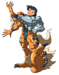 Machamp and Arcanine suit 02 by midorimushiG