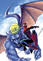spidey 143 cover coloured by deemonproductions