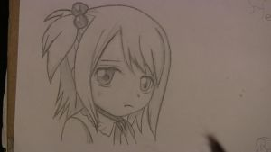 Young Sad Lucy Heartfilia (finished) by ImAFireStarterRobot