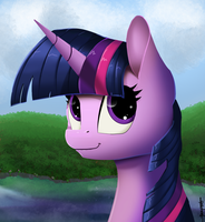 Twilight Sparkle Portrait - Version 2! by Shikogo