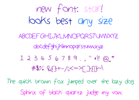 Star Font by zara-leventhal