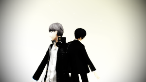 [MMD x Persona] - Donut Hole - Yu and Minato by Maychanx31