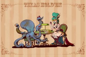 Otto and Victoria: Texas hold'em by neko-productions
