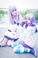 Cute Nepgear and Neptune sister Cosplay by K-I-M-I