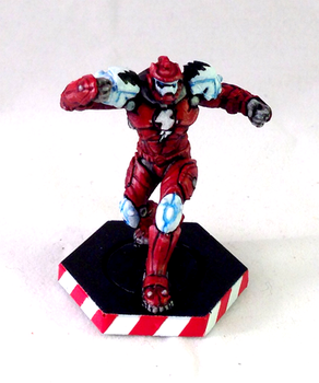 Dreadball Corporation Guard for the Red Lightning by burbidge
