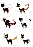 Roman God Shadow Cat adopts 2 CLOSED by gaytiers