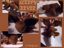 Sleepy Eevee Plushie by JyamiTeK