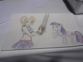 Juliet Starling and Twilight Sparkle by Closer-To-The-Sun