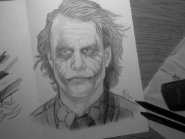 Heath Ledger - Joker by AdushS