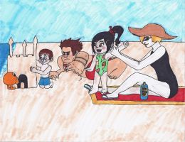 Wreck-It Ralph: At the Beach by TwilightKeyblade928