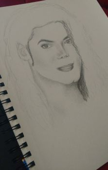 Michael Jackson sketch by AndyVRenditions