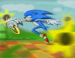 Fast Sonic Is Very Fast by SuperArtNinja