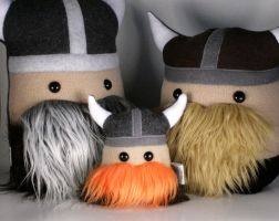 Mini Magnus the Little Viking Warrior Plush Friend by Saint-Angel