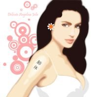 Delicate Angelina Jolie by TriVector