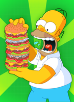 Homer Big Chew by LeeRoberts