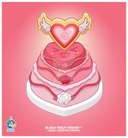 Kawaii Heart Sugar Cookie Cake by KawaiiUniverseStudio
