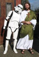 Stormtrooper and Jesus by Content-Josho