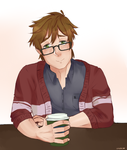 Coffee With Makoto by CasuallyObserving