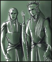 The ElvenKing and his Heir by MellorianJ