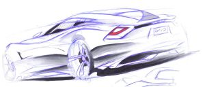 Ford Coupe sketch by dyrborgdesign