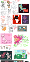 Giant sketch/doodle Dump (updated) by chickenmcfuckit
