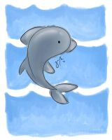 dolphin by moooness