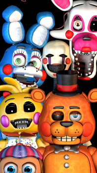 FNaF 2 Mobile Wallpaper by PuppetProductions