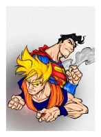 Superman vs Goku Cover by Schilkitc